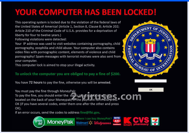 Le virus FBI Moneypak