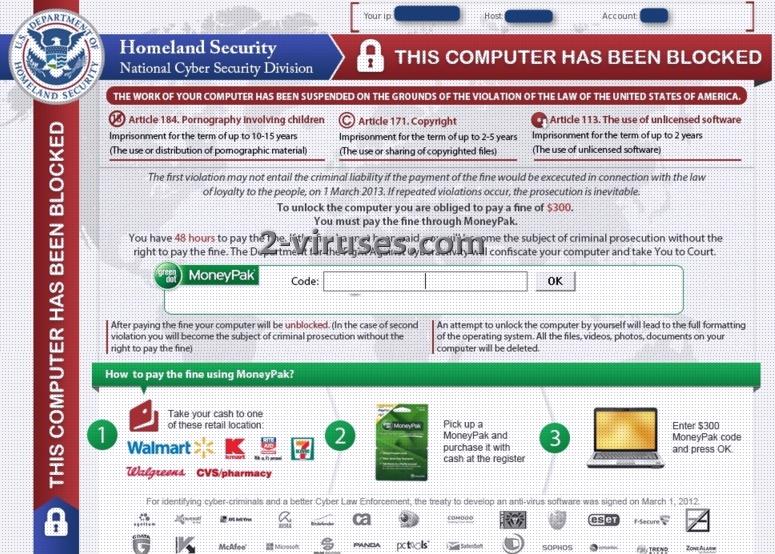 Le virus Homeland Security