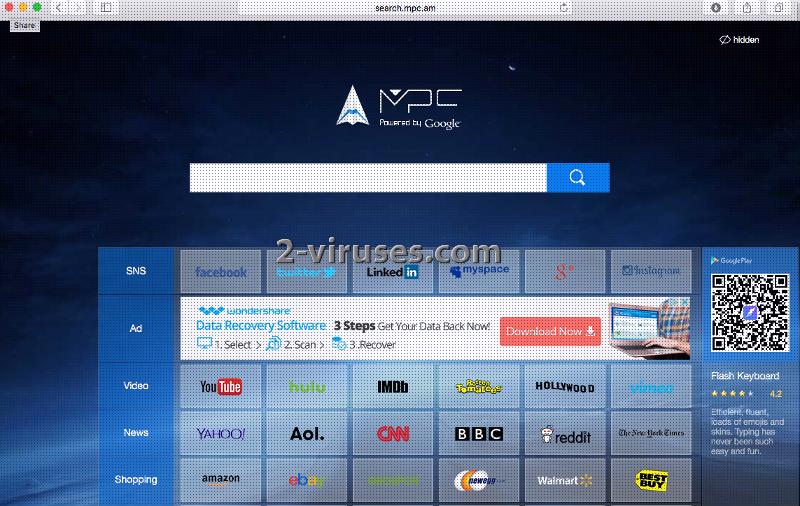 Le virus Search.mpc.am