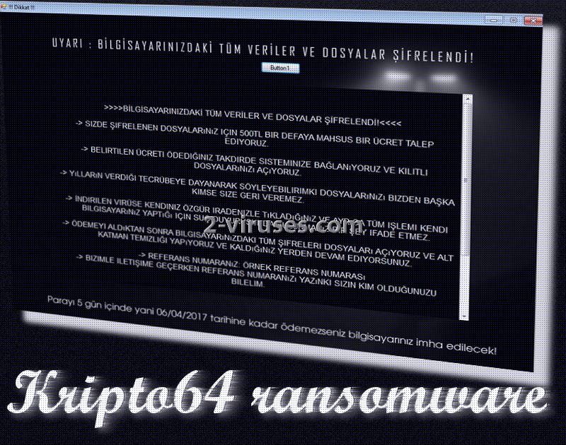 Le ransomware Kripto64