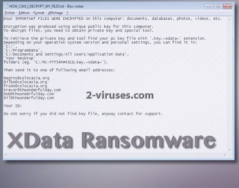 Le ransomware XData