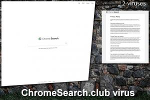 Le virus ChromeSearch.club