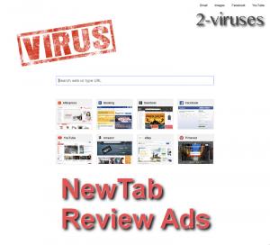 Les publicités Newtab.review