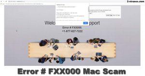 L'arnaque Error # FXX000 sur Mac