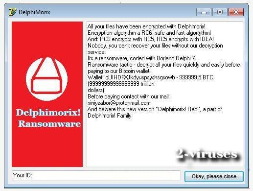 Le ransomware Delphimorix