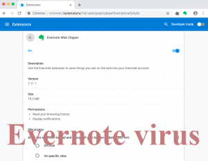 Le virus Evernote