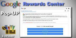 Le pop-up Google Rewards Centre